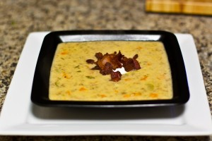 Bacon Cheeseburger Soup Recipe: done